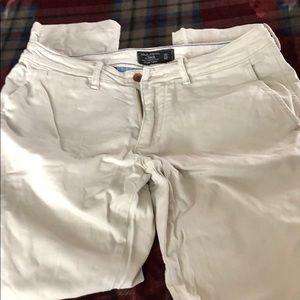Abercrombie ivory dress pants